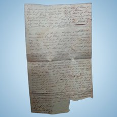 Lauderdale County,Alabama Land Deed John G.Pickens William Smart August 22 1823