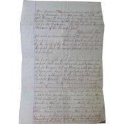 Indenture Lauderdale County,Alabama between LeRoy Madison Pickens  Oliver & Georgie Kennedy 1873