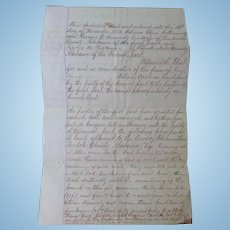 Indenture Lauderdale County,Alabama between LeRoy Madison Pickens  Oliver & Georgie Kennedy 1873