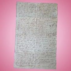 1828 Hardin County,Tn Indenture between James Robinson & Archie B.Davis Jessie Cherry & John Houston