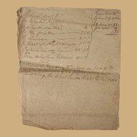 Ichabod Knight School Teacher Duncan McIntyre Student Lauderdale County,Al Hardin County,Tn 1823 School Masters Document