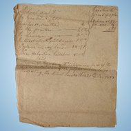 Ichabod Knight School Teacher Duncan McIntyre Student Lauderdale County,Al Hardin County,Tn 1823 School Masters Document
