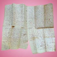 Lauderdale County,Alabama Sworn Affidavit Gunfight Murder Pickens Family 1830's