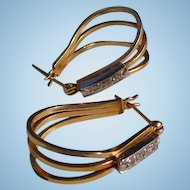 Swanky 14kt. Gold Ladies Vintage Earrings c.1960's