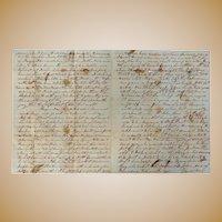 Wedding Day Suicide Gold Dollars & George Bullook dies in Insane Asylum Haywood County,Tn. Letter 1859