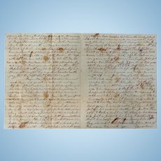 Wedding Day Suicide Gold Dollars & George Bullook dies in Insane Asylum Haywood County,Tn. Letter 1859