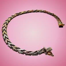 Eloquent Vintage 14k Yellow Gold Snake V-Link Bracelet