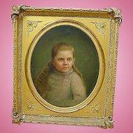 Gordonsville,Va. Civil War era Painting of Girl with Haunting Blue Eyes...Iverness Plantation