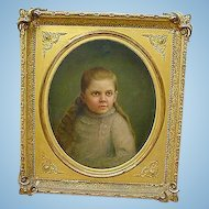 Gordonsville,Va. Civil War era Painting of Girl with Haunting Blue Eyes...Iverness Plantation
