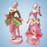Dresden Porcelain Multi-Colored Dancing Figures Pre-World War 2