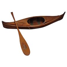 RED INDIAN Gasoline Premium Prize of a Canoe & Paddle from Montreal c.1930's McColl-Frontenac Oil Company