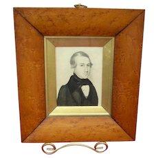 American Portrait of Philadelphia Lawyer c.1830's by Augustus Day