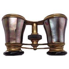 Raspberry Rumble Opera Glasses by Hyde & Humble Wichita,Kansas c.1870