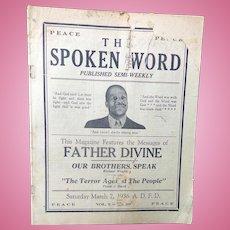 SCARCE Father Devine The Spoken Word Newsletter Harlem,New York 1936