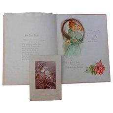 Josephine Steinheimer Francis Brundage Baby Book Aiken,South Carolina with locks of hair