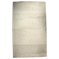 Civil War Dallas,Texas Confederate UCV Manuscript Brigadier General William Lewis Cabell