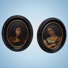 Fine Baroque period portraits on board
