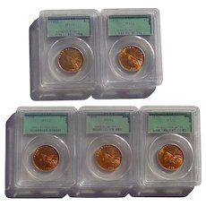 Collection of Graded $ 10 Ten Dollar Indian Gold Coins 1926-32