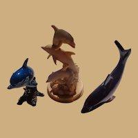 Three Gorgeous Marine Art Dolphin Sculptures