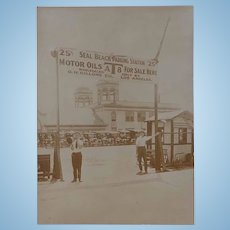 Seal Beach California Parking Station Photo from 1918 AT8 Motor Oil for Sale Here !