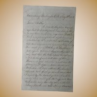 Bed Lice, Bed Bugs, Sleeping with that Lousy Queer Fellow 1856 Letter Canonsburg,Pa.