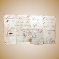 Highly Unusual 1818  First Seminole Wars Dishonorable Discharge Papers