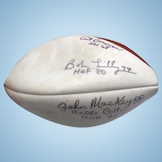 NFL HOF Football Autographed by Gridiron Legends