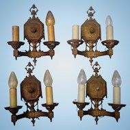 Spectacular Edwardian Period Wall Sconces from Southern Mansion