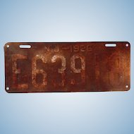 1926 New Jersey License Plate