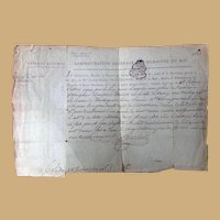 1789 French Revolution Period Legal Document Joseph Poinsignon