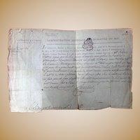 1789 French Revolution Period Legal Document Joseph Poinsignon