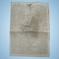Napoleon Bonaparte Declares War on the United States ! 1810 Newspaper The Columbian Centinel