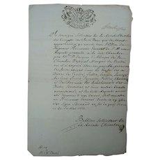 1773 Manuscript from the King of Savoy Sardinia