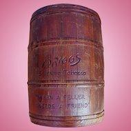 Briggs Smoking Tobacco Wood Humidor Barrel Container