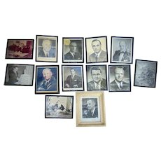 Collection of Autographed Governor Photos to Police Chief Harry C.Welch McDowell County, West Virginia