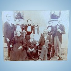Albumen Photo of York Family from Virginia Nurse Diesel & Confederate Civil War Soldier
