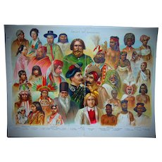 Chromatography poster of Races of Mankind 1896