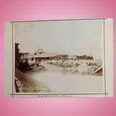 Petoskey Michigan Railroad Station Photograph c.1905