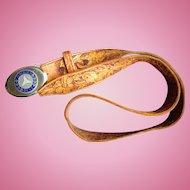 1970's Mercedes Mechanic Custom Leather Belt & Buckle