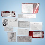 Collection of Important Autographs Civil War  War of 1812 Politicians & More