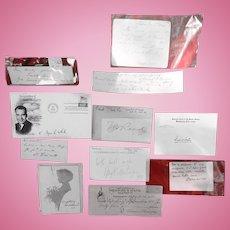 Collection of Important Autographs Civil War  War of 1812 Politicians & More
