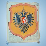1898 Chromatography Travel Poster Coat of Arms for Oesterreich Austria