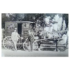 Spokane,Washington Horse Drawn Tea Salesman c. 1907 Photograph