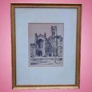 William H. Eppens  Artist Signed Print Chicago Memorial Chapel