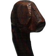 Southern Folk Art Cane of Blood Hound c. 19th century