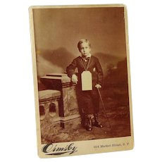 New Orleans Yellow Fever Survivor Walter Wilcox Cabinet Photo 1879 Masonic