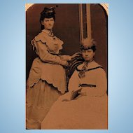 Strength & Confidence the Civil War Ladies Way~ Tintype Portrait