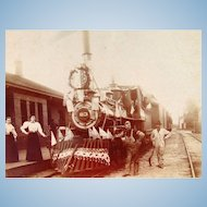 1890's Independence Day for Engine 83  Albumen Photograph