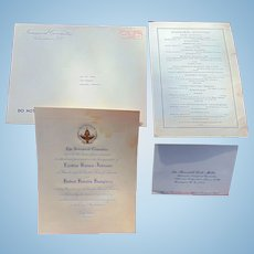 Formal invitation from Lyndon Johnson & Humphrey  Inauguration 1965