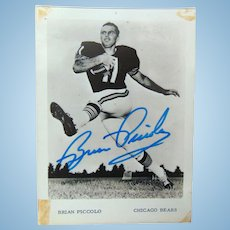 Spectacular Brian Piccolo Autographed Chicago Bears Photograph